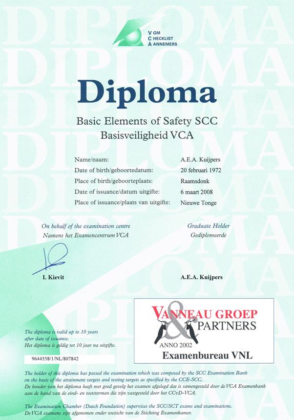 CVA Basisveiligheid - Alex Kuijpers Voegbedrijf en Gevelrenovatie