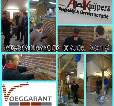 Demonstratie knip en snijwerk gegeven op de restauratiefair RIBO te Hengelo
