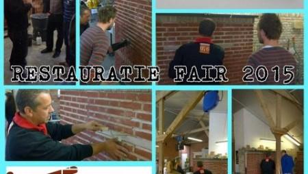 Demonstratie knipvoeg en snijvoeg tijdens de Restauratie Fair RIBO in Hengelo